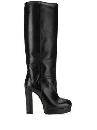Black Gucci Platform Knee-high Boots | Farfetch.com