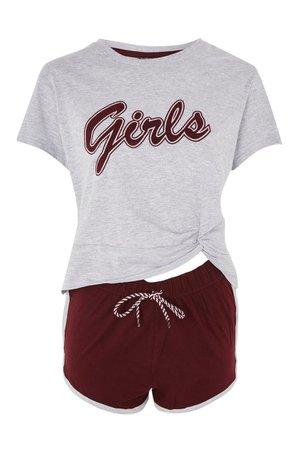 'Girls' Slogan Pajamas Set   TopShop ($12)