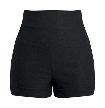 Black High Waisted Short-Shorts