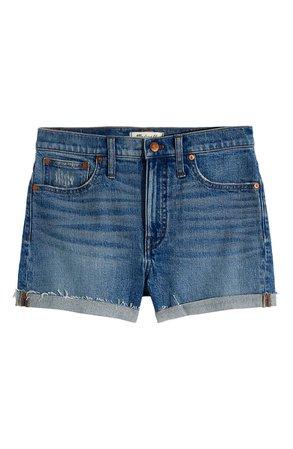 Madewell High Waist Denim Shorts (Malden Wash)   blue