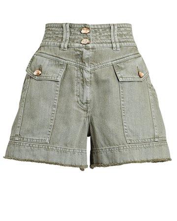 Aje Darcel Cargo Denim Shorts   INTERMIX®