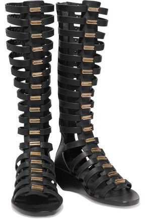 Leather wedge gladiator sandals   RICK OWENS   Sale up to 70% off   THE OUTNET