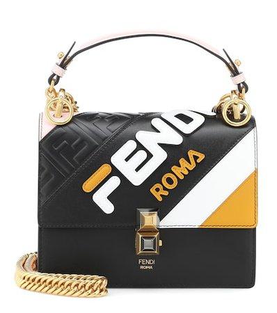 FENDI MANIA Kan I Mini leather shoulder bag
