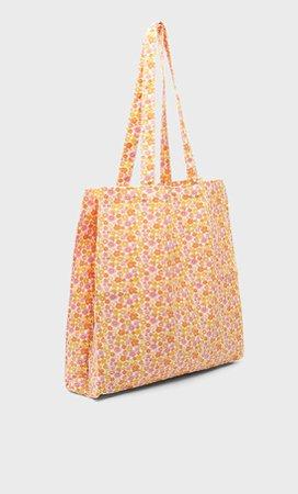 Printed tote bag - Women's Just in   Stradivarius United States