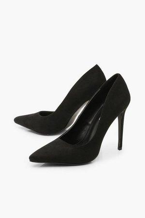 Basic Stiletto Heel Court Shoes | Boohoo