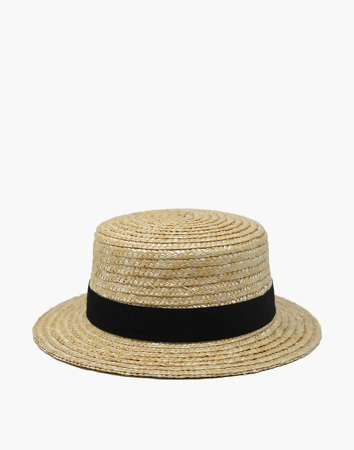 WYETH Straw Gigi Boater Hat