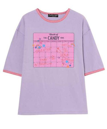 MONTH OF CANDY RINGER TEE-candy stripper