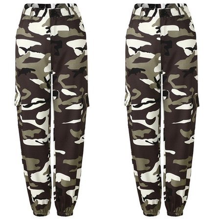 Womens Camo Cargo Trousers Casual Pants Military Army Combat Camouflage Jeans Jeans High Waist Trouser-in Jeans from Women's Clothing & Accessories on Aliexpress.com | Alibaba Group