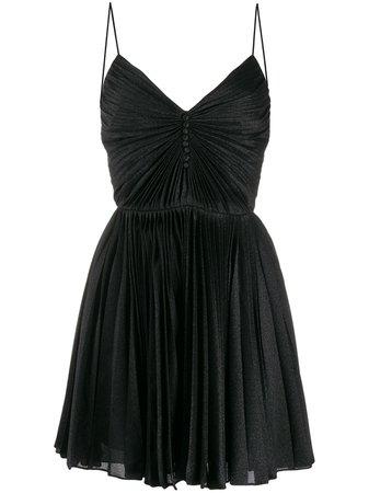 Saint Laurent Pleated Short Dress - Farfetch