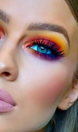 colourful makeup looks - Google Search