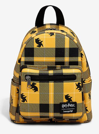 Loungefly Harry Potter Hufflepuff Plaid Mini Backpack