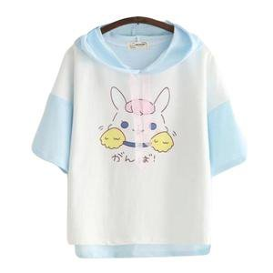 Little Bun Hooded Cropped Top T-Shirt Hoodie Kawaii | DDLG Playground