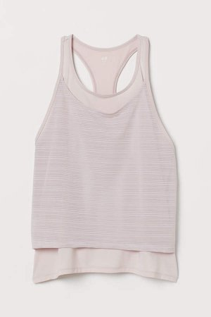 Double-layer Sports Tank Top - Pink