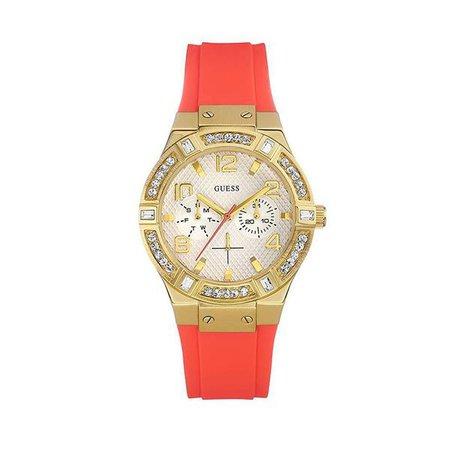 Watches | Shop Women's Guess Orange Quartz Analog Watch at Fashiontage | W0564L2-268973