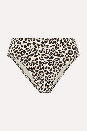 Leopard-print Bikini Briefs - Leopard print
