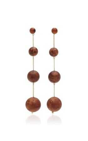 Candace Gold-Tone And Wood Earrings by Cult Gaia | Moda Operandi