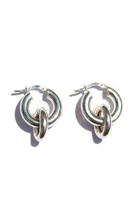 Mini Dafi Sterling Silver Linked Hoop Earrings by REGGIE | Moda Operandi