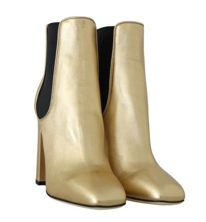 Gold Leather Heels Chelsea Boots – Brand Agent