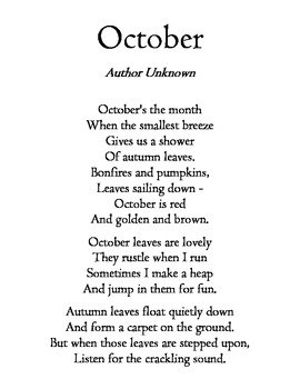 Fall Poem Writing Worksheets & Teaching Resources | TpT