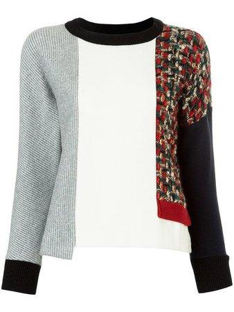 Loveless asymmetric panelled sweater