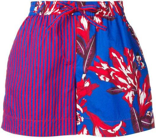 contrast panel shorts