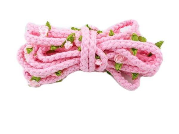 pink rose bondage rope