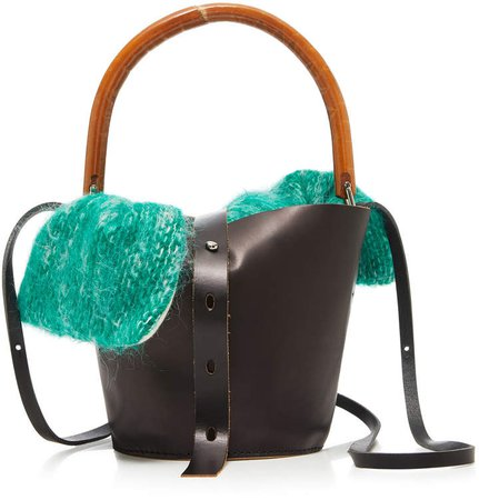 Louise Leather Straw And Tweed Tote