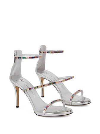 Giuseppe Zanotti Colorful Crystal Sandals - Farfetch