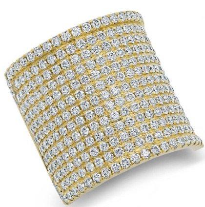 YELLOW GOLD DIAMOND LUXE ROMA RING