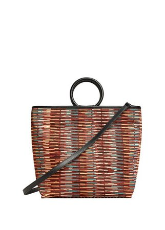 Violeta BY MANGO Printed texture bag