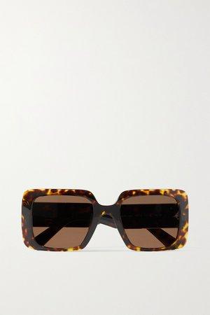 Tortoiseshell Oversized square-frame tortoiseshell acetate sunglasses | Versace | NET-A-PORTER