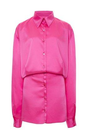 Attico Crepe De Chine Button-Down Mini Dress | Moda Operandi