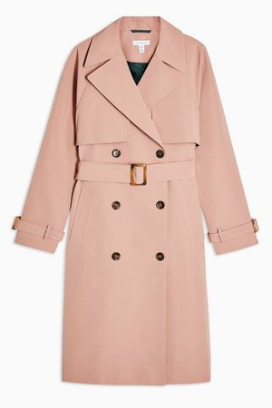 Pink Stitch Trench Coat | Topshop