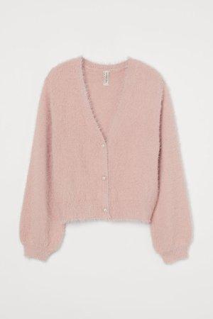 Fine-knit Cardigan - Pink