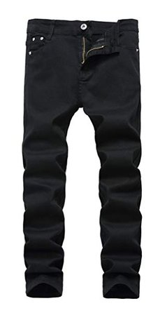 Amazon.com: GUNLIRE Boy's Skinny Fit Stretch Jeans Kids Fashion Pants Black W10: Clothing