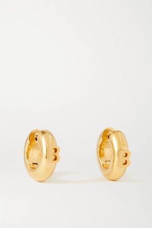 Gold Gold-tone hoop earrings | Balenciaga | NET-A-PORTER