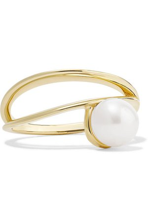 Natasha Schweitzer   9-karat gold pearl ring   NET-A-PORTER.COM