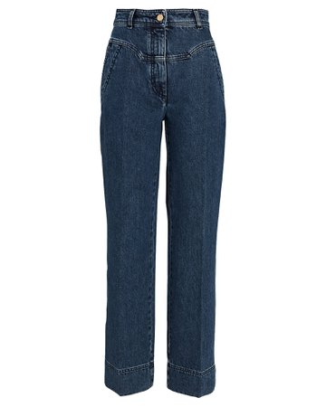 Alberta Ferretti Yoke Wide-Leg Jeans | INTERMIX®