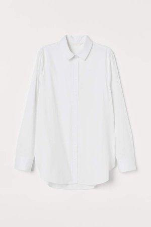 MAMA Cotton Nursing Shirt - White