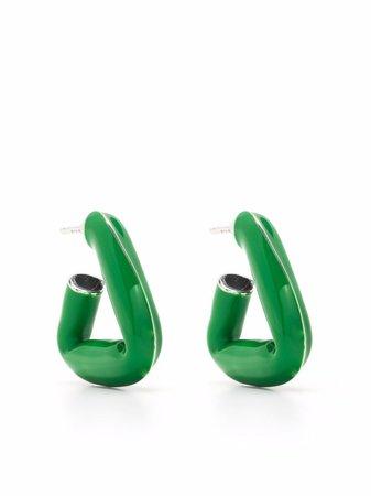 Bottega Veneta Triangle Hoop Earrings - Farfetch