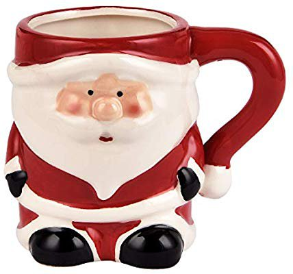 Amazon.com: 3D Santa Claus Coffee Mug Christmas Holiday Ceramic Mug Christmas Festival Holiday Gifts For Children Friends 12 ounce(Red & White): Kitchen & Dining