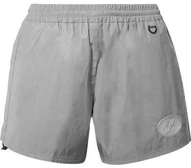 we11done - Appliquéd Reflective Shell Shorts - Gray