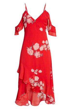 Lulus Love in Bloom Floral Cold Shoulder High-Low Dress | Nordstrom