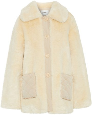 Quilted Shell-trimmed Faux Fur Coat