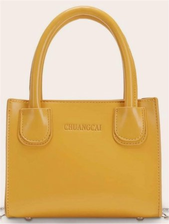 mustard mini purse