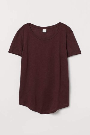 Modal-blend T-shirt - Red