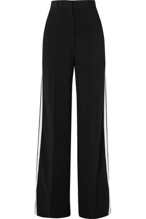 Burberry   Pantalon large en crêpe à rayures   NET-A-PORTER.COM