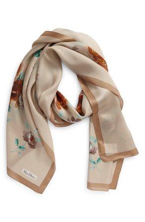 Max Mara Rasetto Floral Print Silk Scarf | Nordstrom