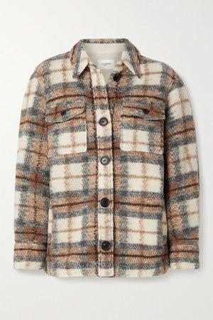 Beige Gastoni checked wool-blend jacket   Isabel Marant Étoile   NET-A-PORTER