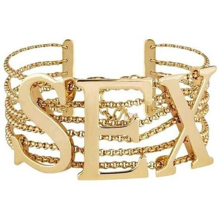 Dolce & Gabbana New Gold 'sex' Chain Link Choker Necklace ($1,375)